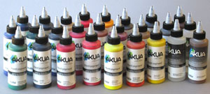 Bottles of Akua Liquid Pigment in the Professional Set