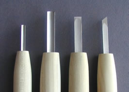 Namisei Set of Four Tools, traditional set - tips