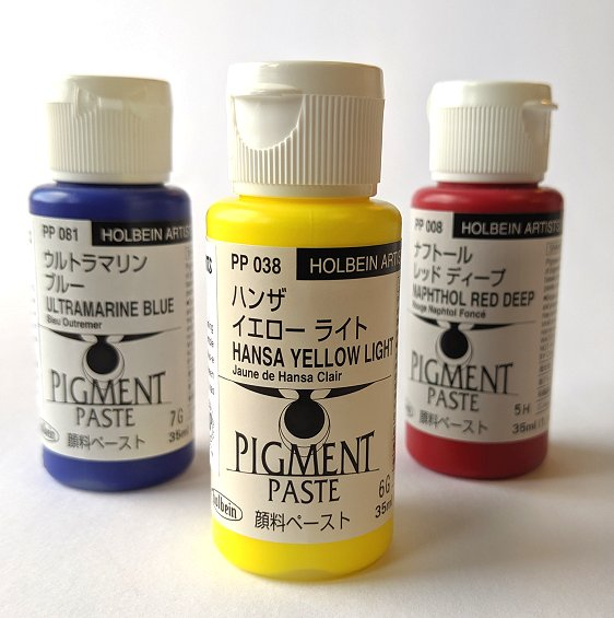 Holbein Paste Pigment Primary Set