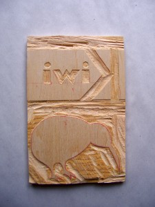 Carved block for two colors