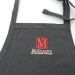 15% Off McClain's Apron - The logo is just a tad off-center but if you didn't notice, this is the deal for you.